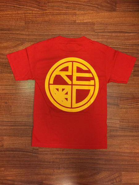 Classic Logo Tee - Red & Yellow - Red Label Clothing Inc