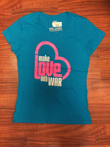 Make Love Not War Womens Tee - Red Label Clothing Inc