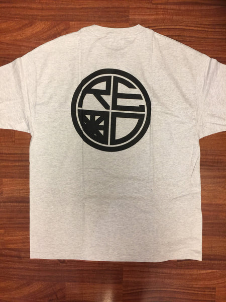 Classic Logo Tee - Heather Grey & Black - Red Label Clothing Inc