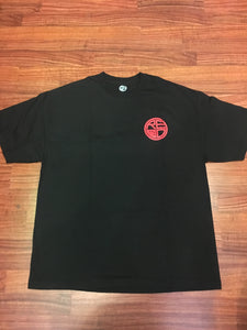 Classic Logo Tee - Black & Red - Red Label Clothing Inc