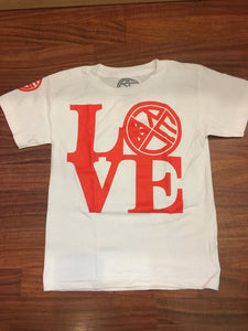 """LOVE"" Youth T-Shirt - Red Label Clothing Inc"