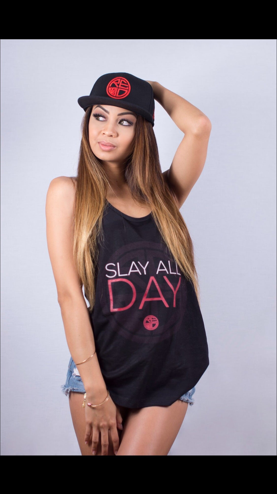 """Slay All Day"" Women's Racerback - Red Label Clothing Inc"