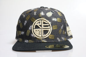 Silver & Gold Pineapple Snapback
