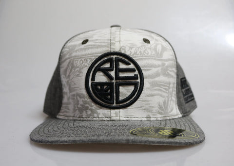 Grey Denim Palm Snapback