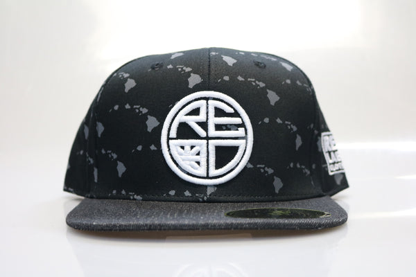 Black Hawaiian Islands Snapback