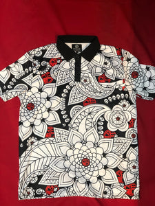 Geo Floral Dry Fit Polo Shirt