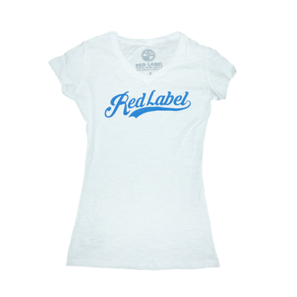 Script Logo Women's T-Shirt BLUE/RED/BLACK