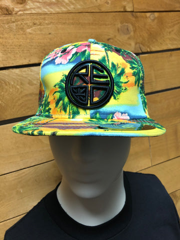 Yellow Floral Snapback
