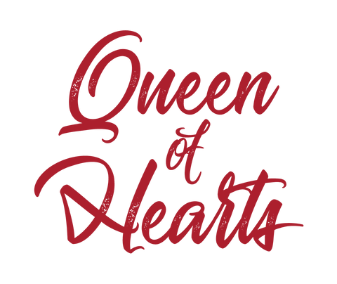 """Queen of Hearts"" Women's Racerback - Black"