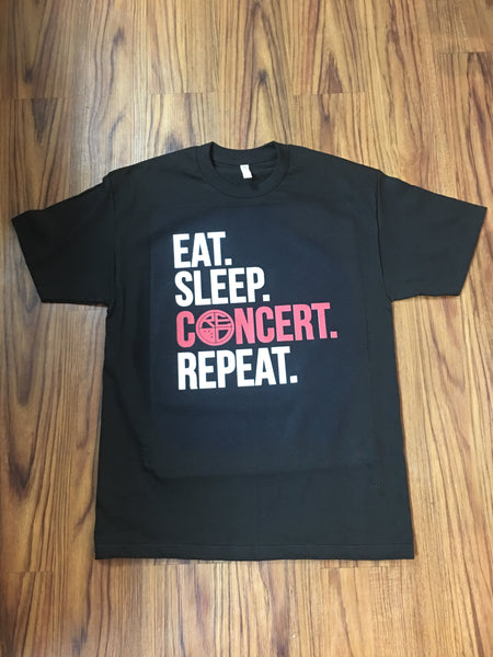 Eat. Sleep. Concert. Repeat. Men's Tee *ONLINE EXCLUSIVE! - Red Label Clothing Inc