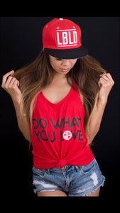 """Do What You Love"" Women's Racerback - Red Label Clothing Inc"