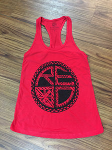 Tattoo Classic Logo Women's Racerback RED/BLACK