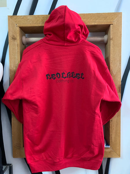 RL Logo Zip-Up Hoodie - RED/BLACK