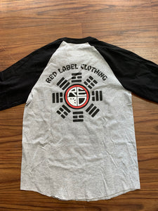 Yin Yang Men's Raglan - White/Black