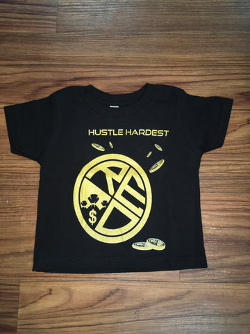 Hustle Hardest Tee Toddler Sizes - Red Label Clothing Inc