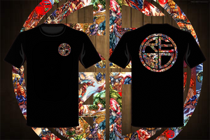 Marvel Superhero Classic Logo Men's T-Shirt BLACK/MULTI