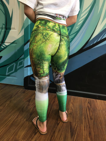High Fashion Yoga Pants - Enchanted Forest - Red Label Clothing Inc