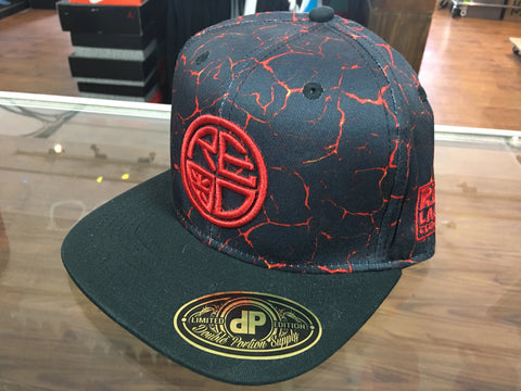 Lava Snapback BLACK/RED