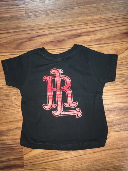 RL Logo Toddler T-Shirt BLACK/RED