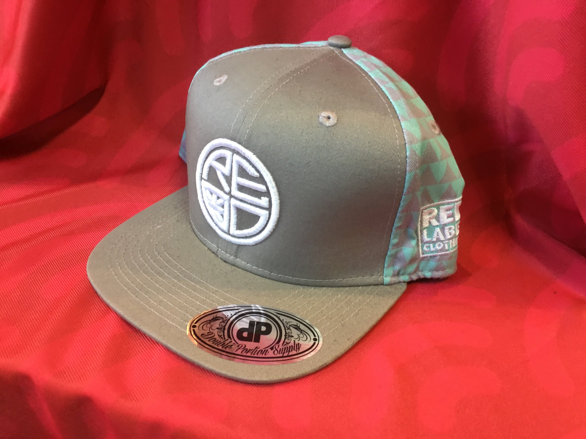 Grey Mint Tribal Snapback