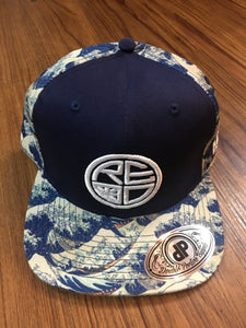 Japan Wave Snapback BLUE/WHITE