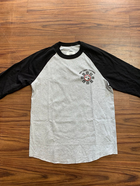 Yin Yang Men's Raglan - Grey/Black