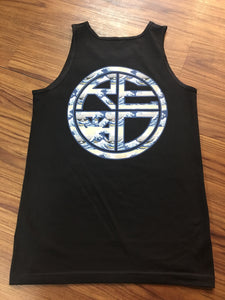 Japan Wave Men's Tank Top BLACK/WAVE