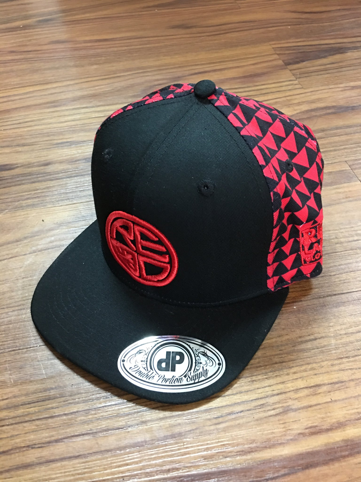 Red & Black Tribal Snapback