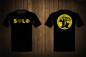 Han Solo Men's T-Shirt BLACK/YELLOW