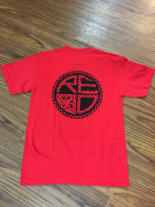 Tattoo Classic Logo Men's T-Shirt - RED/BLACK
