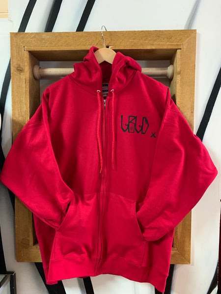 LBLD Zip-Up Hoodie - RED/BLK