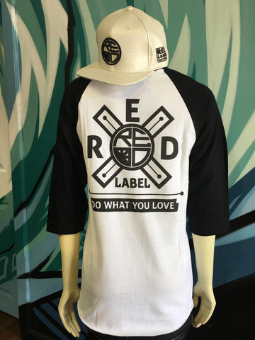 Do What You Love Men's Raglan WHITE/BLACK/BLACK