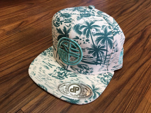 Mint Palm Tree Snapback - Red Label Clothing Inc