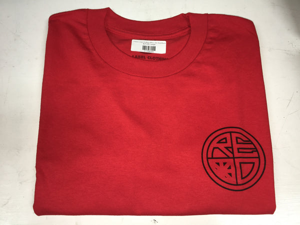 Classic Logo Outline Men's Tee Red/Black - Red Label Clothing Inc