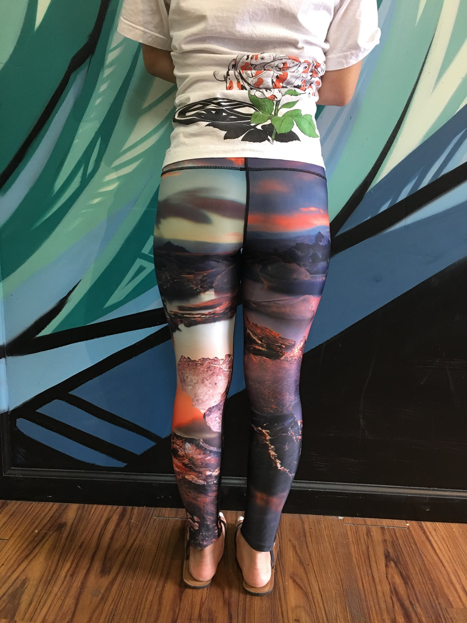 High Fashion Yoga Pants - Glacier Sunset - Red Label Clothing Inc