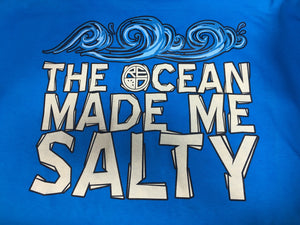 """The Ocean Made Me Salty"" Men's T-Shirt - BLUE"