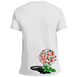 Koi Rose Men's White Tee - Red Label Clothing Inc