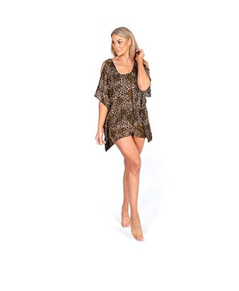 Animal Print Cutout Kaftans
