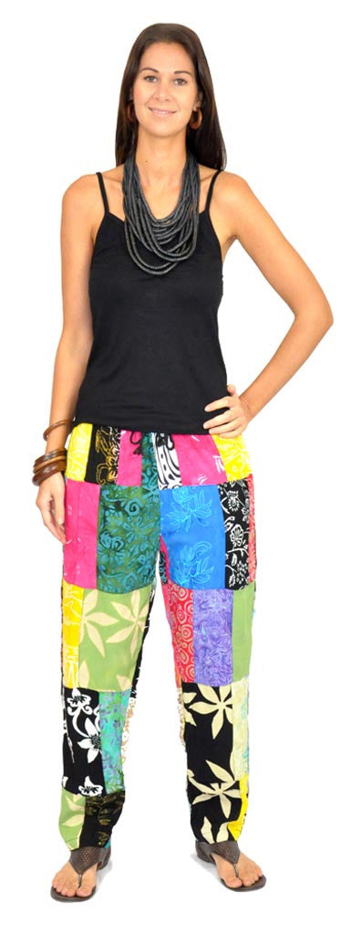 Patchwork Long Pants