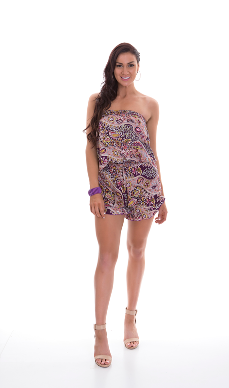 Playsuits - Paisley and Plain Colour