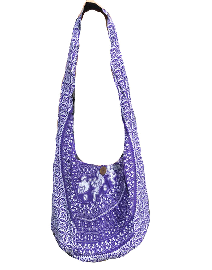 Elephant Print Shoulder Bag