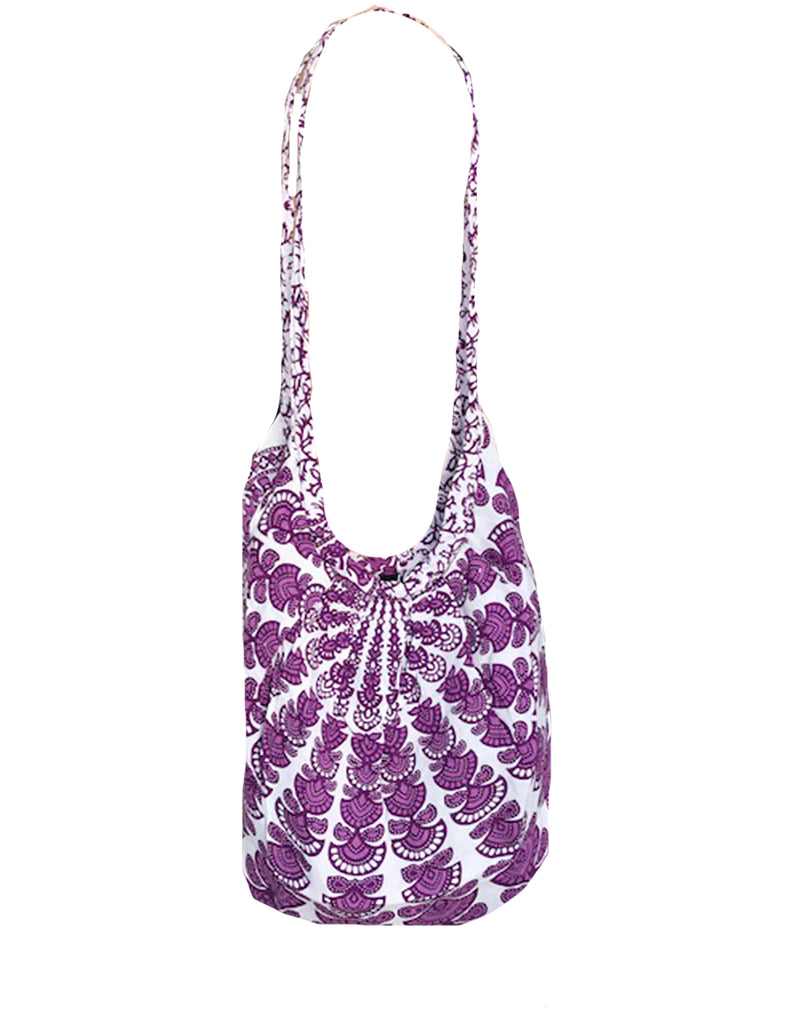 White Mandala Banana Bag