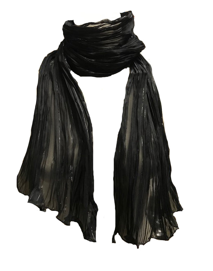 Black Lurex Scarf