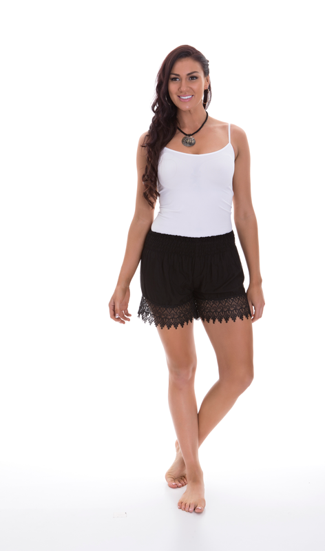 Lace Short - Black