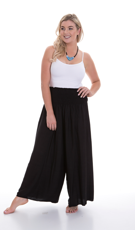 Plus Size Shirred Pants