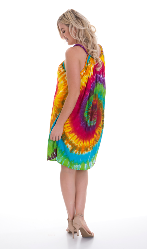 Multi Tie Dye Ball Dress