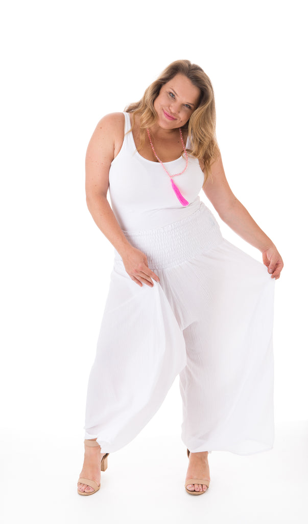 Siri Plus Crinkle Pants (One Size to suit 14-24)