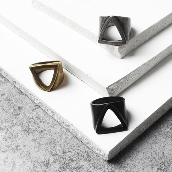 Giza Pyramid Ring -Black - Posh Men Club