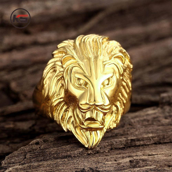 Ferocious Lion Ring-Gold - Posh Men Club