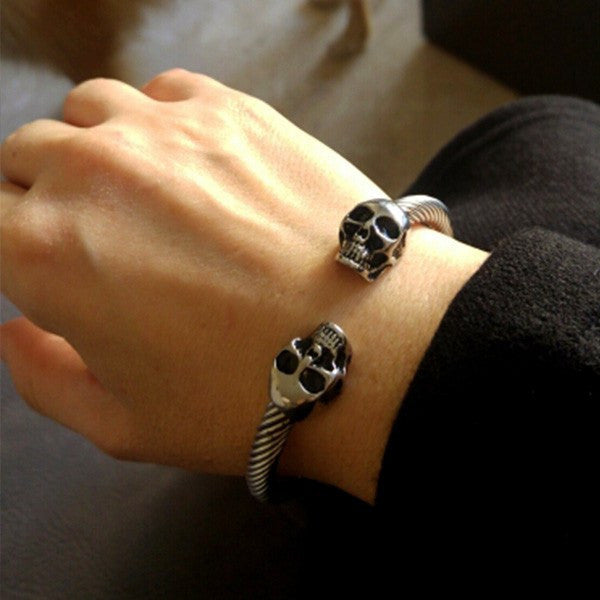 Charming Skulls Bracelet-Silver - Posh Men Club